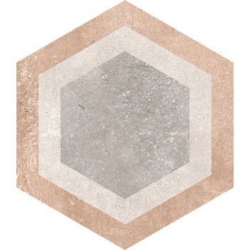 Porcelánico HEXAGONO BUSHMILLS MULTICOLOR 23X26,6 de VIVES (0,5m2/caja)